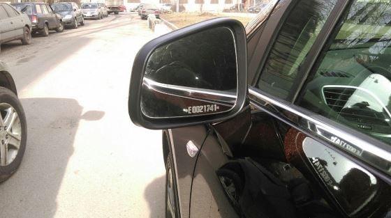 Маркировка стекол авто в боксе