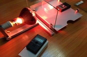 Отражение тепла ( BTU измерения) стекло без пленки